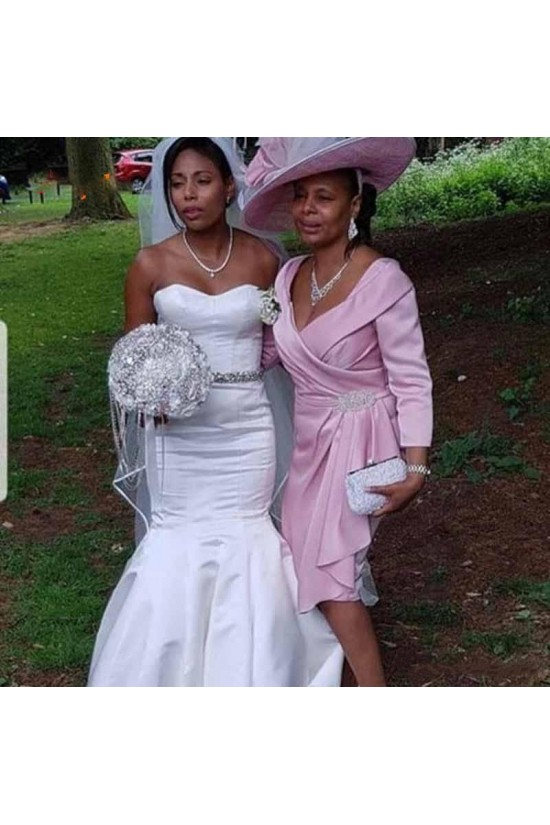 Short Pink Mother of the Bride Dresses 702068