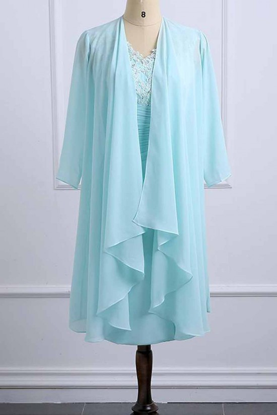 Short Chiffon Lace Mother of the Bride Dresses 702085