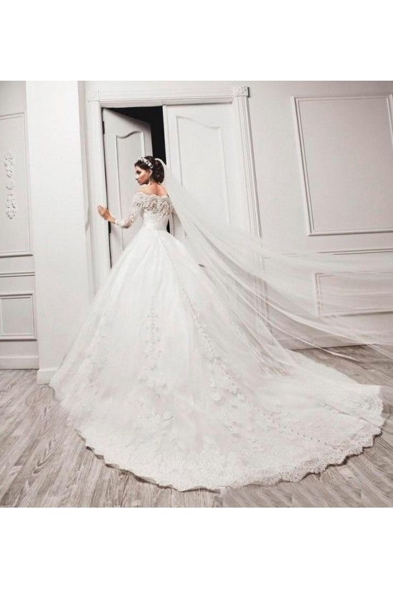 Lace Off-the-Shoulder Wedding Dresses Bridal Gowns 3030076